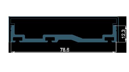 Přítlačná lišta 78,6mm