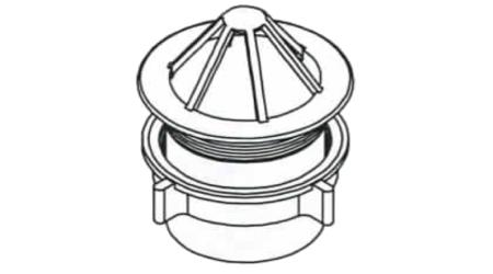 Koš svodu PVC bílá pr. 75 mm