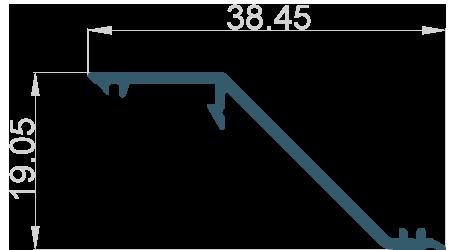 Lamela 38.45x19.05